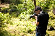 Free Indian Young Photographer Royalty Free Stock Image - 22946746