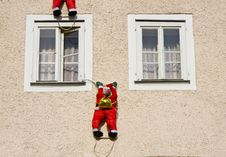 Free Climbing Santas Stock Photos - 22947393