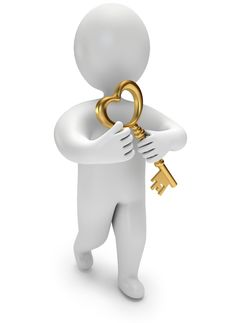Free Person Holds The Golden Key Stock Photo - 22947660