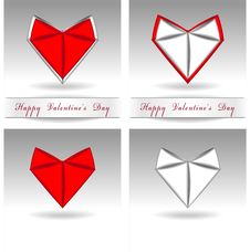 Free Origami Heart Red And White Color Royalty Free Stock Photography - 22947737