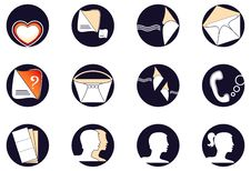 Free Set A Web Of Icons Stock Photography - 22948892