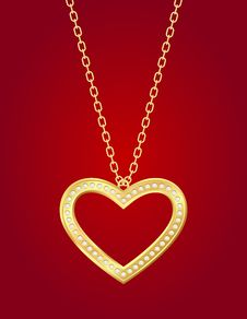 Free Golden Heart Stock Photo - 22949100