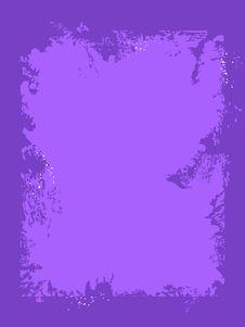 Grunge Violet Frame Stock Images