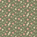 Free Valentine Seamless Pattern With Hearts And Roses Royalty Free Stock Photos - 22959838