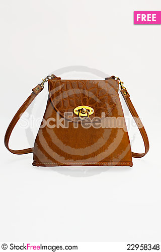 Free Brown Leather Bag Royalty Free Stock Photos - 22958348