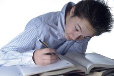 Free Homework Boy Stock Photo - 22950670