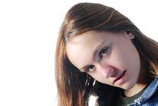 Free Girl Crooked Stock Image - 22950711