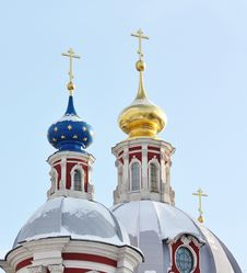 Free Domes Of The Orthodox Church Royalty Free Stock Photo - 22952285