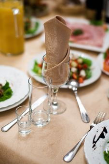 Free Wineglass And Napkin Stock Photo - 22954060