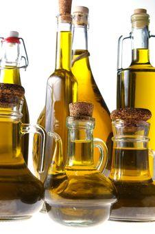 Bottles Of Extra Virgin Olive Oil Stock Photo