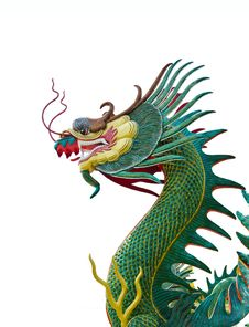 Free The Statue Of A Chinese Dragon. Stock Photos - 22956163