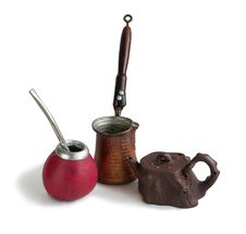 Calabash, Coffee Pot And Teapot Stock Photography