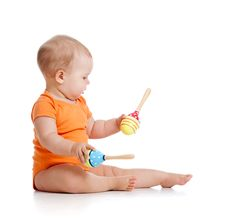 Free Baby Playing With Musical Toy Stock Photos - 22958773