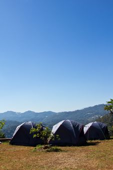 Camping Tent Royalty Free Stock Images
