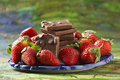 Free Sliced Strawberries Stock Photography - 22964892