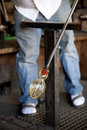 Free Glass Blower Shaping Molten Glass Stock Image - 22967471