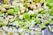 Free Leek, Celeriac, And Zucchini On Frying Pan Stock Photo - 22960410