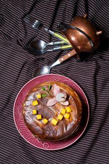 Free Chocolate Cake Royalty Free Stock Photo - 22962675