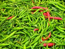 Free Pile Of Green And Red Chilli Peppers Stock Photography - 22963762