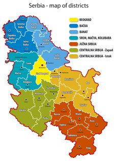 Free Serbia - Map Of Districts Stock Photography - 22964002