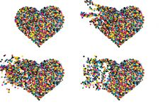 Free Confetti Heart Royalty Free Stock Images - 22964529