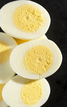 Sliced Boiled Eggs Royalty Free Stock Photography