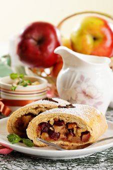 Free Homemade Apple Strudel Stock Photo - 22965080