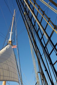 Free Sail Ship In The Sky Stock Photography - 22966222