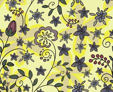 Free Yellow Floral Seamless Background Royalty Free Stock Photo - 22967365