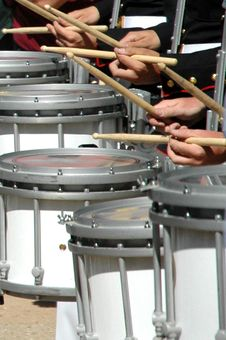 Free Drummers All In A Row Royalty Free Stock Image - 22967486