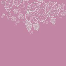 Free Floral Greeting Card In Pink Tones Stock Photos - 22969313