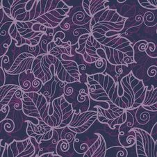 Free Floral Seamless Pattern In Violet Tones Stock Photos - 22969323