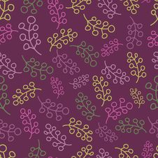 Free Seamless Pattern With Multicoloured Twigs Stock Images - 22969344