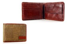 Men S Leather Wallet. Royalty Free Stock Photography