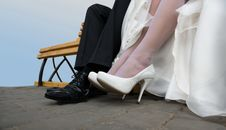 Free The Happy Couple Legs Royalty Free Stock Image - 22970816