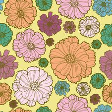 Free Floral Botany Pattern Royalty Free Stock Photo - 22971605