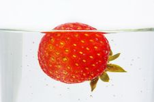 Free Strawberry In Water Royalty Free Stock Photo - 22972205