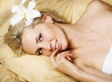 Free Attractive Woman In Bed Royalty Free Stock Image - 22975316