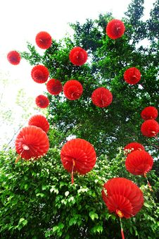 Red Lanterns For Chinese New Year Stock Image
