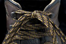 Free Hiking Boot Laces Stock Photo - 22983690