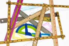 Rulers Rulers Everywhere Royalty Free Stock Images