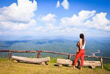 Free Mountain With Blue Sky Royalty Free Stock Photos - 22983888