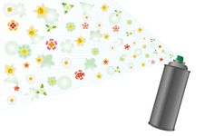 Free Aerosol And Flowers Royalty Free Stock Images - 22984409