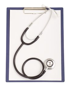 Worksheet With Blank Paper And Stethoscope Royalty Free Stock Photo