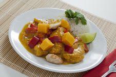 Free Thai Mango Chicken Royalty Free Stock Photography - 22986287