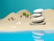 Free Stone Tower In Sea Shore Miniature Background Royalty Free Stock Photo - 22986885