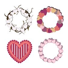 Valentine S Day Garlands Royalty Free Stock Photography