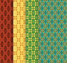 Free Seamless Henna Patterns Royalty Free Stock Image - 22990406