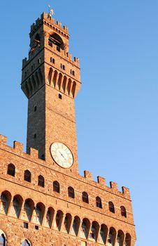 Free Palazzo Vecchio Clock Tower Royalty Free Stock Photos - 22990528