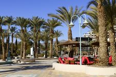 Free View On Major Promenade In Eilat, Israel Royalty Free Stock Image - 22996896